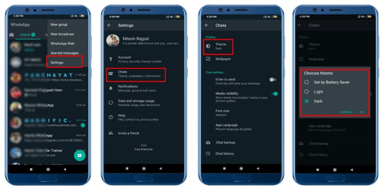 Whatsapp Dark Mode